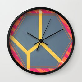 To Bee or Not - pink/orange graphic Wall Clock