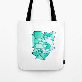 Geometric minimal blue art Tote Bag
