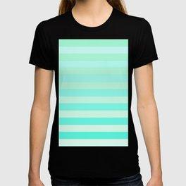 Green Teal Stripe Fade T-shirt
