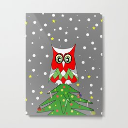 Tree Top Owl Metal Print