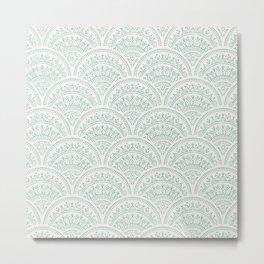 Bohemian Scallops - Jade Metal Print