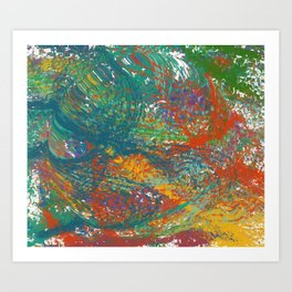 Colors Distorted Art Print
