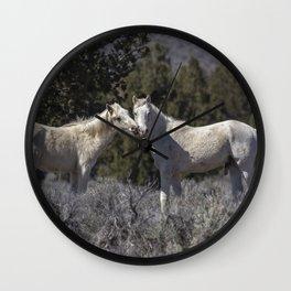 Wild Horses with Playful Spirits No 1 Wall Clock