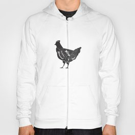 Chicken Butcher Diagram Hoody