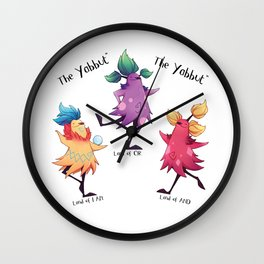 Dancing Yabbuts Wall Clock