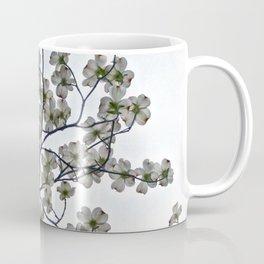 White Dogwood against a Gray Sky Coffee Mug