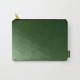 Green Ombre Texture Carry-All Pouch
