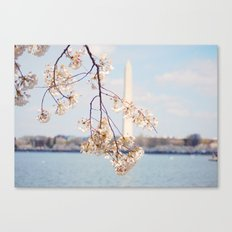 Washington Monument in the Spring Canvas Print