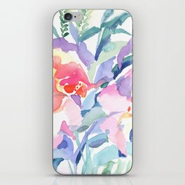 Floral watercolor iPhone Skin