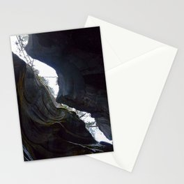 In the depths of Maligne Canyon looking up - Canada Stationery Cards
