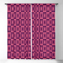 Pink square pattern 70's disco style Blackout Curtain
