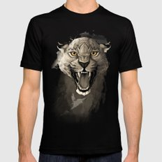 Leopard Black MEDIUM Mens Fitted Tee