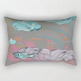 The eternal quest for happiness Rectangular Pillow