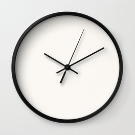 Creamy Off White Solid Color Pairs with Farrow and Ball All White 2005 - Accent to Arsenic 214 Wall Clock