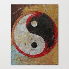 Yin Yang Dragon Canvas Print