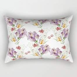 Rural Floral Pattern Spaced Out Rectangular Pillow