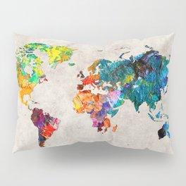 World Map 48 Pillow Sham
