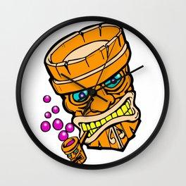 Mr Tiki the bubble blow'n machine Wall Clock