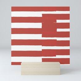 Big Stripes In Red Mini Art Print