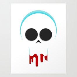 Clique Skull Art Print