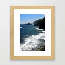 The Coastline of Pololu Framed Art Print