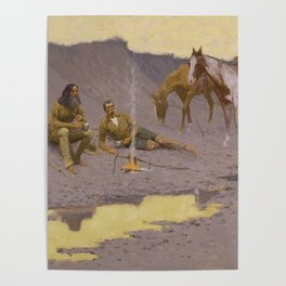 Frederic Remington - A New Year on the Cimarron Poster