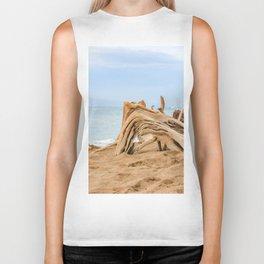 beached wood Biker Tank