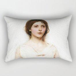 """""""Angel"""" Portrait by Abbott Handerson Thayer Rectangular Pillow"""