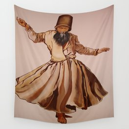 The Remembrance of Allah - A Sufi Whirling Dervish Wall Tapestry
