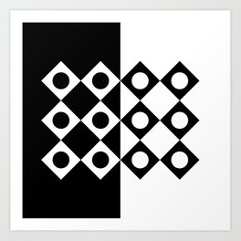 Black and White Abstraction Art Print