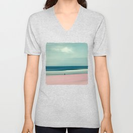edge of the sea - abstract seascape Unisex V-Neck