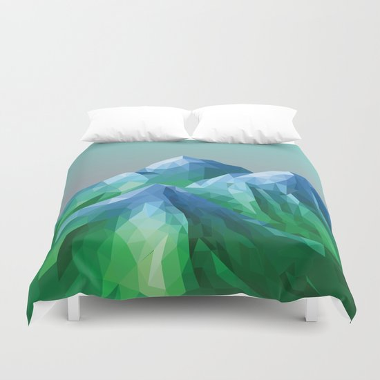 Night Mountains No. 40 Duvet Cover