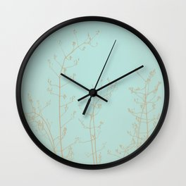 Teal Aquamarine Turquoise Abstract Nature Wall Clock