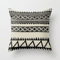 zebra Throw Pillows featuring MALOU ZEBRA by Aztec
