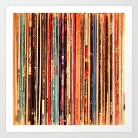vinyl Art Prints featuring Vinyl by bomobob