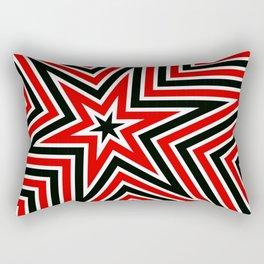 Geometric Star Line Art Rectangular Pillow