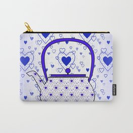 Blue Teapot Carry-All Pouch