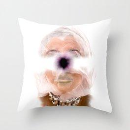 Funky Portrait Throw Pillow