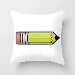 Student Looking Sharp Pencil Teacher Gift Throw Pillow