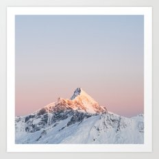 Mt Aspiring - square Art Print