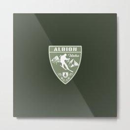 Ski Albion Idaho Metal Print
