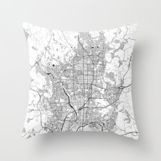 Kyoto Map Gray Throw Pillow