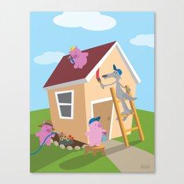 Three Pigs Canvas Print