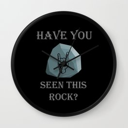 Have you seen this ROCK? Wall Clock