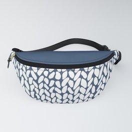 Half Knit Navy Fanny Pack