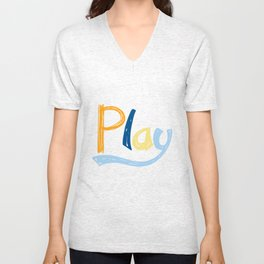 Play Nursery Art Unisex V-Neck
