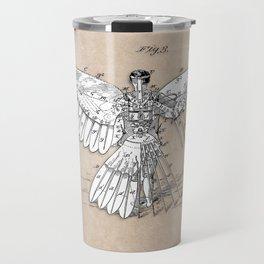patent art Spalding Flying Machine  1889 Travel Mug