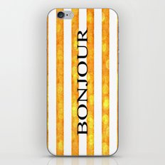 Bonjour Orange Stripe Bokeh iPhone & iPod Skin