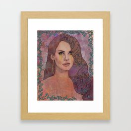 Lana - Deadly Nightshade Crying Tears Of Gold Framed Art Print