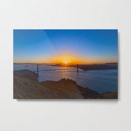 San Francisco Sunrise Metal Print